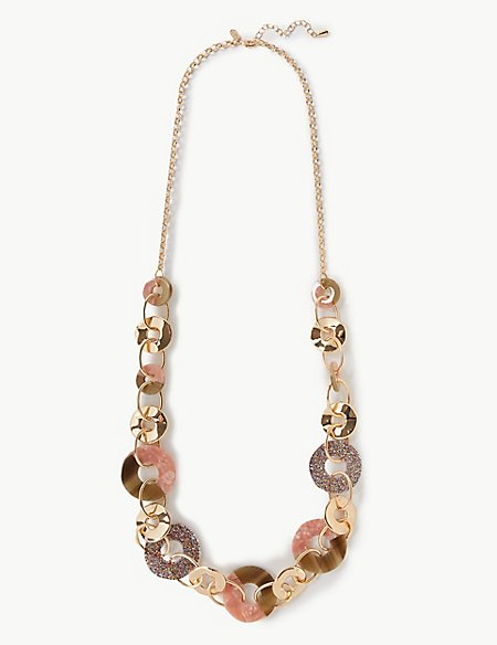 Glitter Rings Long Necklace
