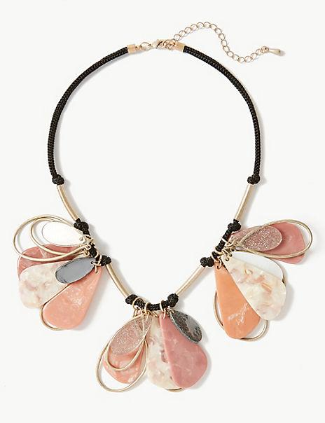 Glitter Petal Necklace
