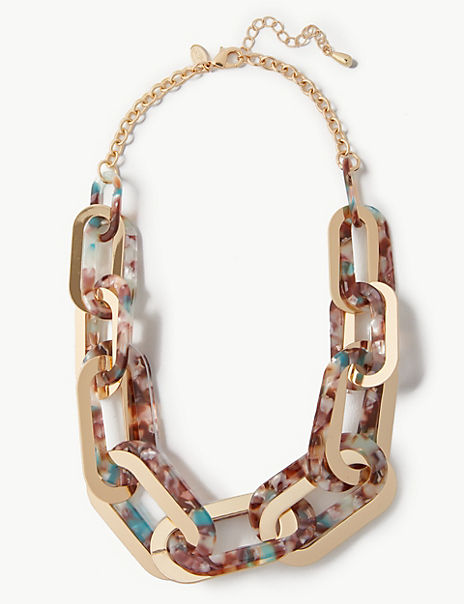 Speckled Double Link Necklace
