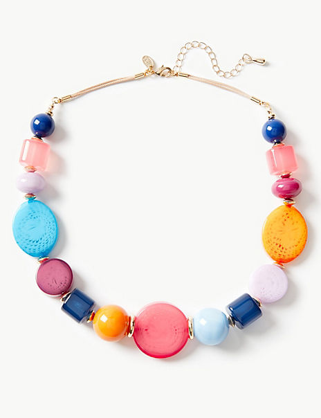 Oval Flat Collar Necklace