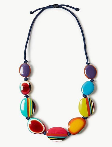 Splashed Pebbles Necklace