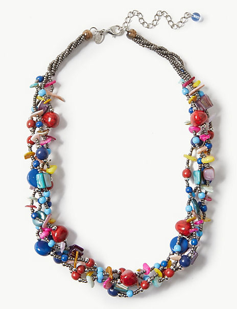 Multi Shell Chip Necklace