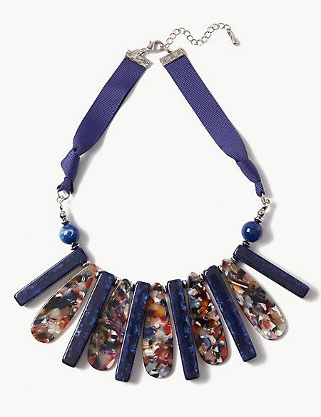 Marble Effect Fan Necklace