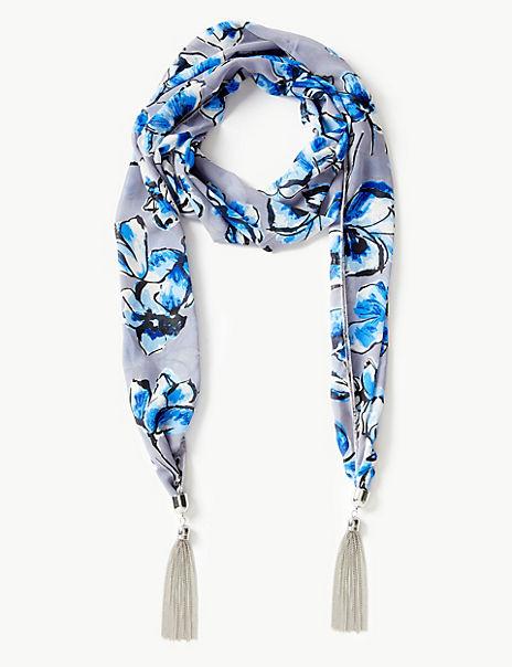 Scarf Tassel Necklace