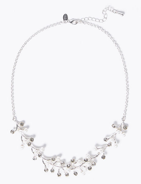 Pearl Effect Twig Necklace