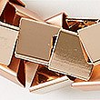 Mini Squares Collar Necklace, ROSE, swatch