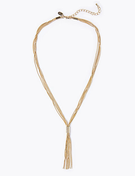 Gold Plated Tassel Necklace