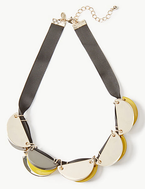 Statement Disc Necklace