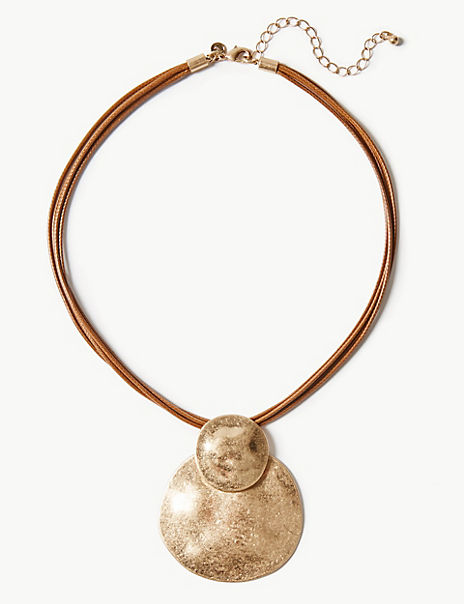 Dented Pendant Necklace