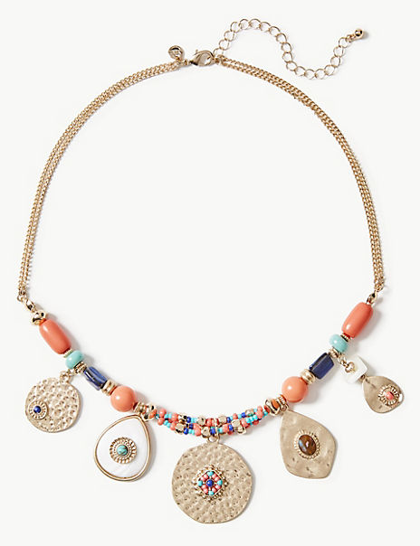 Disc Eye Cluster Necklace