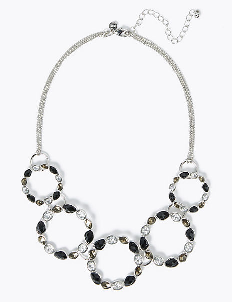 Facet Gem Collar Necklace