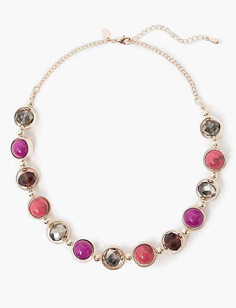 Caged Gems Collar Necklace