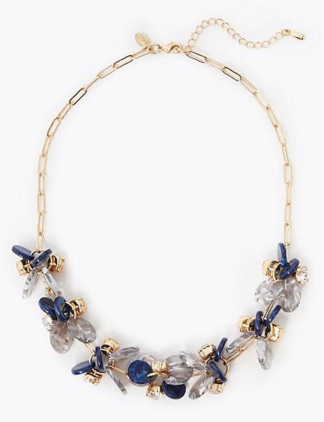 Link Disc Cluster Necklace