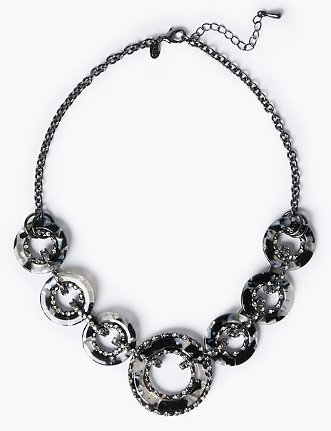 Circle Link Collar Necklace