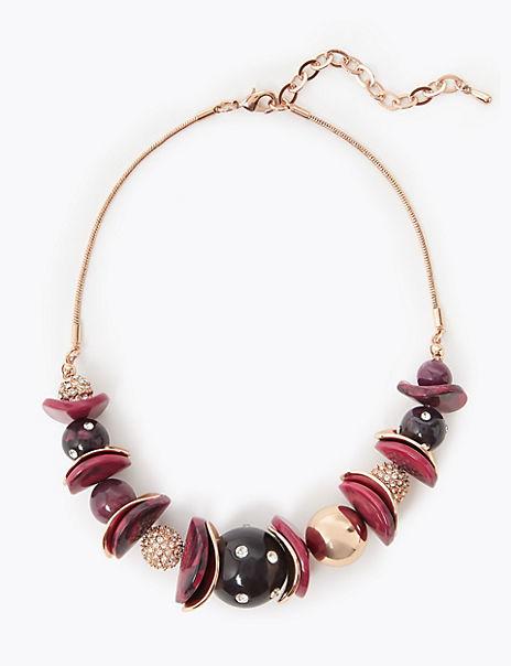 Wavy Disc Necklace