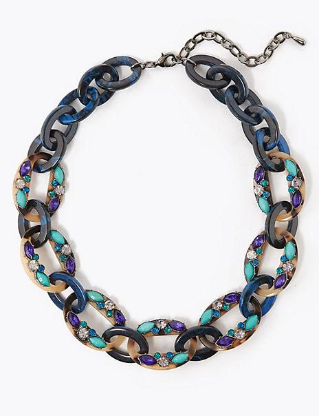 Gem Detail Link Necklace