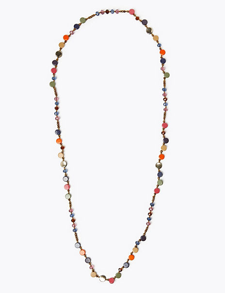 Long Beaded Rope Necklace