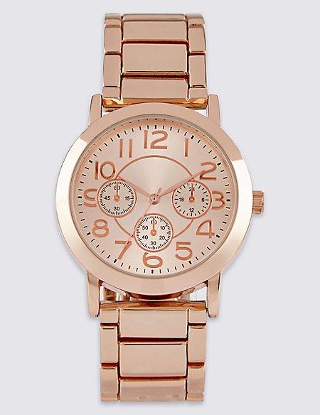 Round Face 3 Eye Bracelet Watch