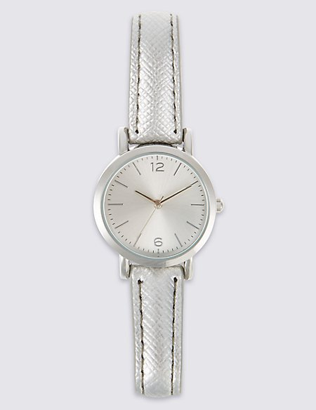 Round Face Strap Watch