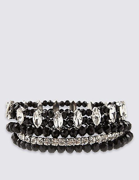 Diamanté Multi-Strand Sparkle Stretch Bracelet
