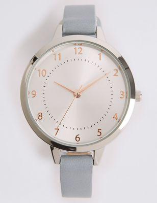 Round Face Case Strap Watch