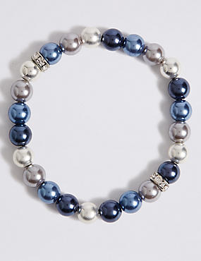 Coloured Pearl Bracelet