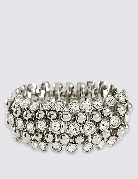 Diamanté Sparkle Gem Stretch Bracelet