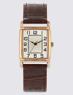 Rectangular Face Watch