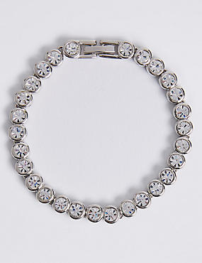 Platinum Plated Diamanté Bracelet