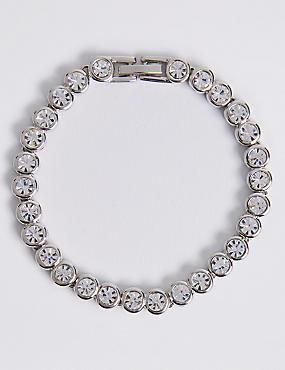 Platinum Plated Diamanté Bracelet
