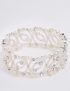 Curved Pearl Bracelet