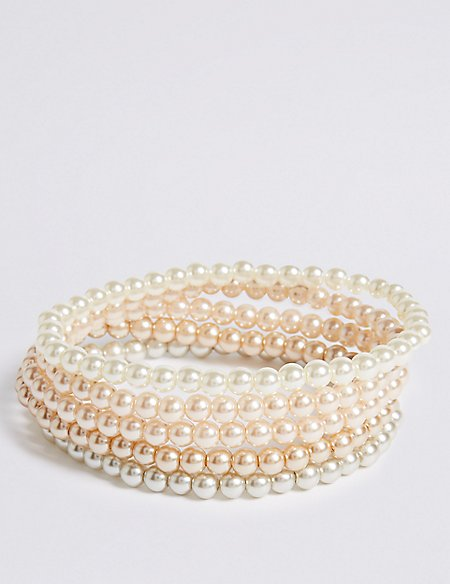 Pearl Effect Multipack Bracelet