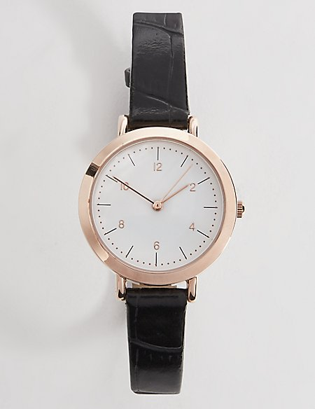 Sleek Minimal Round Strap Watch