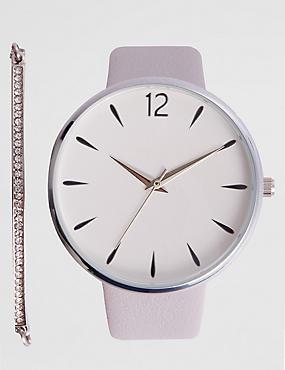 Round Face Modern Watch Set