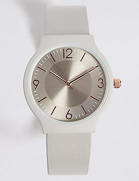 Round Face Strap Watch