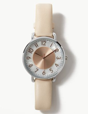 Round Face Pretty Pearl Watch by Marks & Spencer