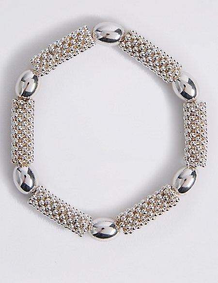 Silver Plated Bobble Bead Bracelet