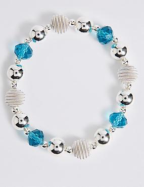 Silver Plated Snail Stretch Bracelet