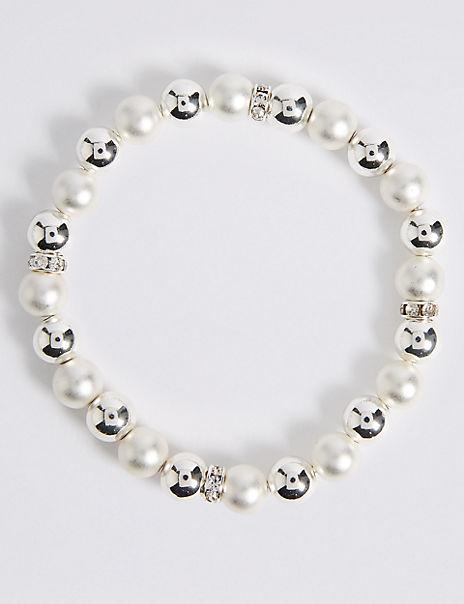 Silver Plated Stretch Bracelet