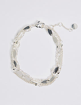 Silver Plated Disc Bracelet