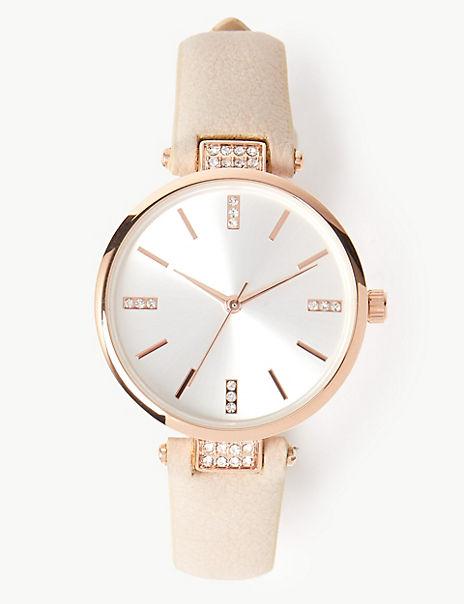 Studded Glitter Watch