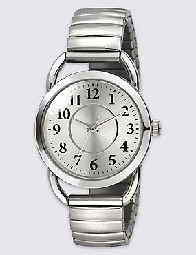 Vintage Style Round Face Expandable Watch