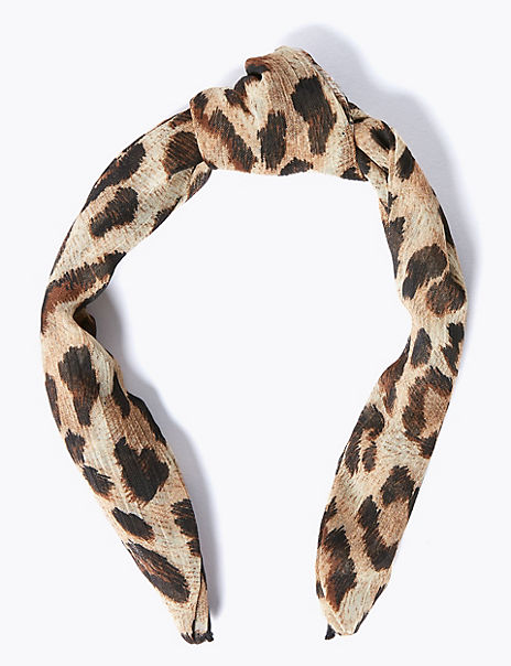 Animal Print Structured Hair Band