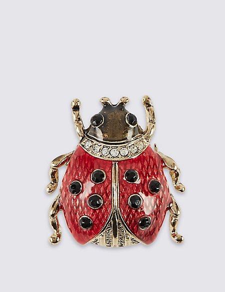 Diamanté Lady Bird Brooch