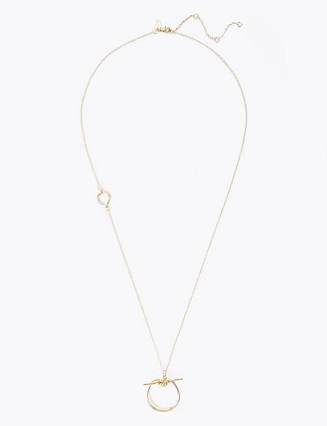 Freshwater Circle Knot Pendant Necklace
