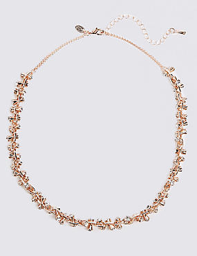 Mixed Metals Drum Collar Necklace