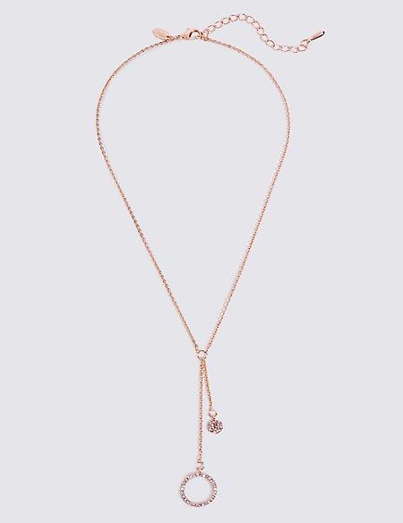 Circle Hexagon Chain Necklace