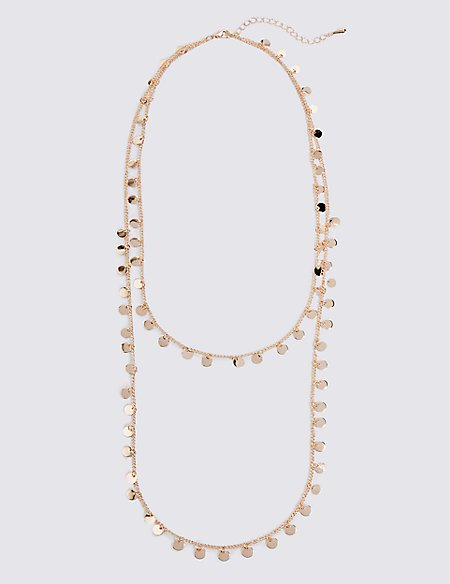 Multi Disc Layered Necklace