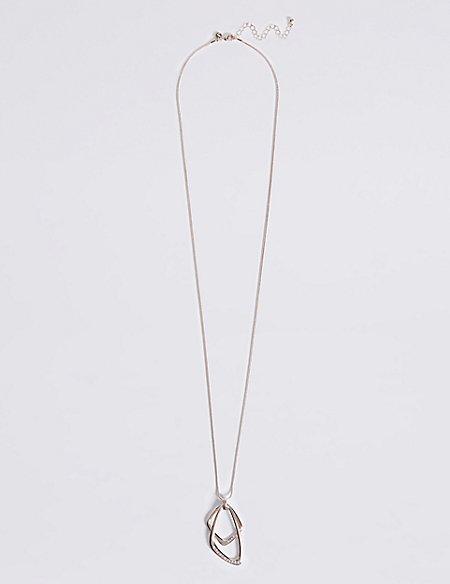 Double Shapes Pendant Necklace