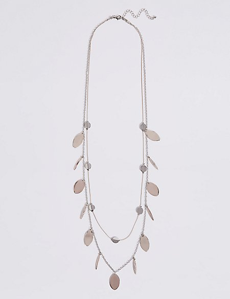 Multi-Layer Pave Disc Necklace